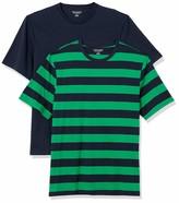 Amazon Essentials Men's 2-Pack Loose-Fit Crewneck T-Shirt