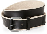 Cole Haan Leather & Web Belt