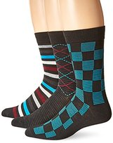 Hanes Men's 3-Pack Dress Casual Crew Flat Knit Socks
