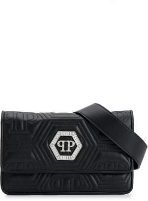 Philipp Plein crystal logo shoulder bag
