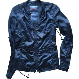 Prada \N Anthracite Polyester Leather jackets