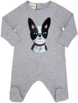 Gucci Dog Print Cotton Jersey Romper