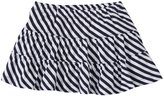 Burt's Bees Baby Striped Reversible Skirt (Toddler/Kid) - Blue-3T