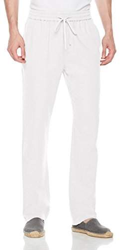 0b527342d32a2 Isle Bay Linens Men's Casual Linen Pant with Drawstring