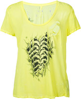 Unravel Project - distressed ribcage T-shirt - women - Cotton - XS