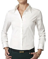 Gap The Shirt by Rochelle Behrens The Shirt L/S Fitted Cotton Blouse with No Technology