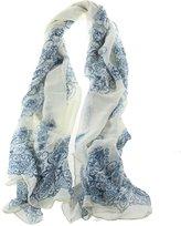 Kobwa eFuture(TM) Fashion Women Girl Lady Gaze De Paris Beige Porcelain Pattern Long Scarf Wrap Silk Scarves +eFuture's nice Keyring