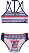 Gossip Girl Girls' Desert Stripe 2-Piece Swimsuit
