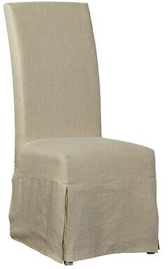 Furniture Classics Linen Floor Length Slip Covered Upholstered Dining Chair (Set of 2) Furniture Classics