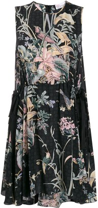 RED Valentino Antique Flowers sleeveless flared dress