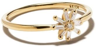 Suzanne Kalan 18kt yellow gold small Starburst diamond ring