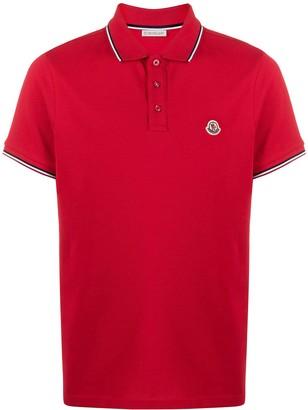 Moncler Stripe-Trim Polo Shirt