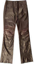 Roberto Cavalli Leather Wide-Leg Pants