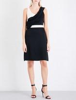 Lanvin Draped A-line crepe dress