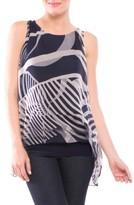 Olian Women's Ava Sleeveless Silk Maternity Top