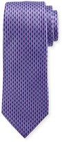 Ermenegildo Zegna 3D Diamond Neat Tie, Purple
