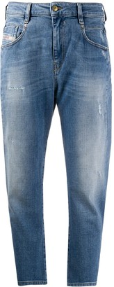 Diesel Fayza mid-rise tapered jeans