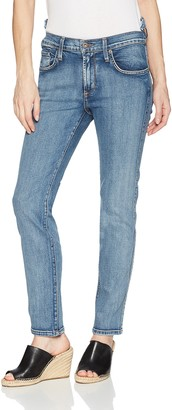 James Jeans Women's Chica Re-Constructed Hi-lo Waist Slim Leg Jean in Americana 25