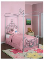 Powell Company Kids Canopy Bed Metal/Silver Grey