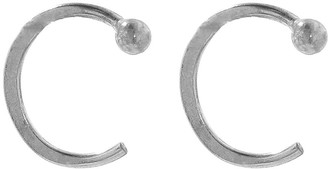 Melissa Joy Manning Ball Hug Hoop Earrings - Sterling Silver