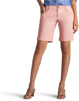 Lee Straight Fit Twill Bermuda Shorts-Petites