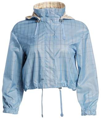 Akris Punto Check Lined Nylon Jacket