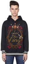 Dolce & Gabbana Bee King Print Cotton Hooded Sweatshirt