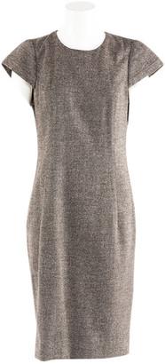 Celine Brown Wool Dresses