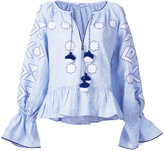 March 11 - embroidered tunic blouse - women - Linen/Flax - M