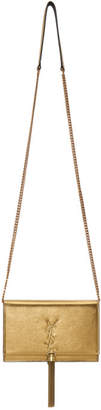 Saint Laurent Gold Kate Tassel Chain Wallet Bag