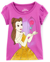 Children's Apparel Network Beauty and the Beast Belle Cap-Sleeve Tee - Toddler & Girls
