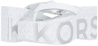 MICHAEL Michael Kors Benny Flip-Flop (Bright White) Women's Shoes