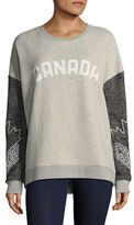 Canadian Olympic Team Collection Womens Oversized Fleece Sweater