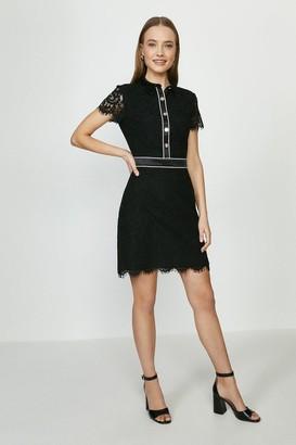 Coast Lace Button Detail Dress