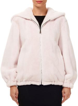 Gorski Zip-Front Mink-Fur Jacket w/ Hood