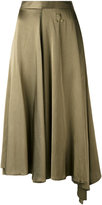 MM6 MAISON MARGIELA asymmetric hem skirt - women - Cotton/Viscose - 44