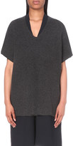 Vince V-neck wool and cashmere-blend tunic
