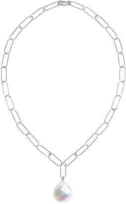 Ora Pearls Aurelia Baroque Pearl Large Link Necklace Silver