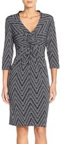 Donna Ricco Women's Print Jersey Sheath Dress