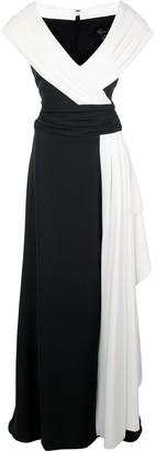 Tadashi Shoji Colour-Block Maxi Dress