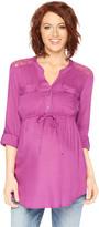 Motherhood Lace Back Maternity Tunic