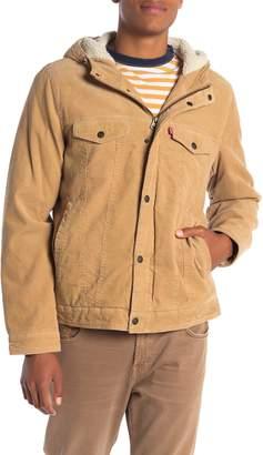 Levi's Faux Shearling Lined Corduroy Trucker Jacket