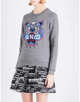 Kenzo Tiger-embroidered cotton-jersey sweatshirt