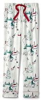Lands' End Women's Petite Flannel Sleep Pant-Rich Pine Plaid