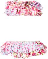 Natasha Zinko strapless tiered ruffle bikini