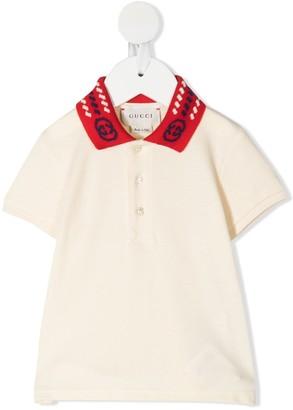 Gucci Kids GG collar polo shirt