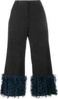 Rosie Assoulin cropped ruffle trousers - women - Silk/Cotton - 8
