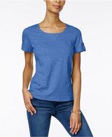 Karen Scott Cuffed Cotton Active T-Shirt, Created for Macy's