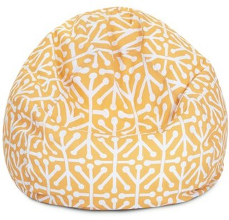 Majestic Home Goods Indoor Outdoor Citrus Aruba Classic Bean Bag Chair 28 in L x 28 in W x 22 in H