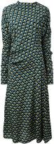 Marni embroidered shift dress - women - Silk - 40